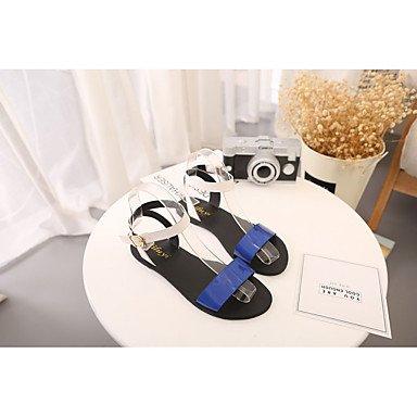 Plano Menos Blue Blanco LvYuan PU Rosa Primavera Mujer Tacón cms 2'5 Verano de Hebilla Sandalias Azul xP0q8awPA