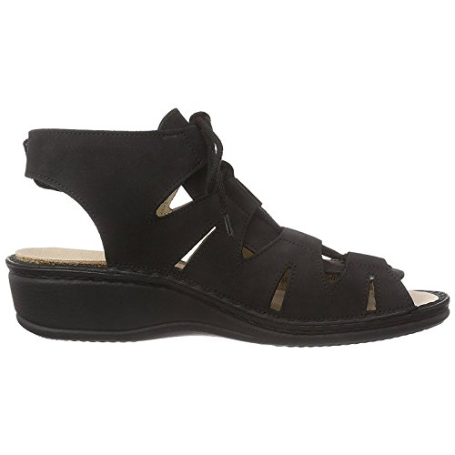 Finn Comfort Womens Malaga Black Leather Sandals 40 EU by Finn Comfort (Image #3)