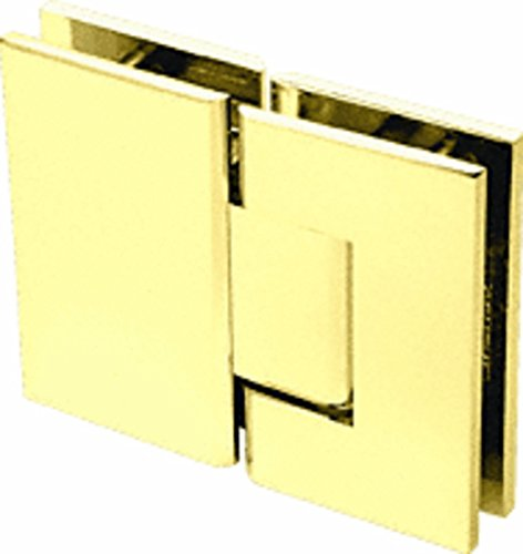 CRL Geneva 580 Series Ultra Brass 180186; Glass-To-Glass Hinge with 5186; Offset Brass Offset Pivot Set
