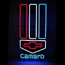 Chevrolet Bowtie Camaro Neon Sign - Garage & Man Cave Light - LARGE