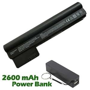 Battpit Bateria de repuesto para portátiles HP HSTNN-TY06 (2200mah / 24wh) con 2600mAh Banco de energú} / baterú} externa (negro) para Smartphone
