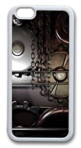 For Iphone 6Plus 5.5Inch Case Cover Gears machine steampunk Hard shell Custom For Iphone 6Plus 5.5Inch Case Cover Whtie