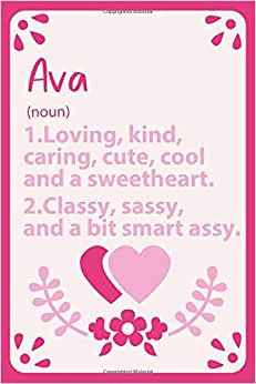 Ava Definition Personalized Name: Notebook for Ava a Gift ...