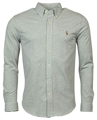 - Polo Ralph Lauren Men's Classic Fit Knit Oxford Mesh Button-Down - Gray - M