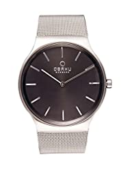 OBAKU V178GXCBMC Men's Black Dial Classic Analog Watch with 3 Hands Date