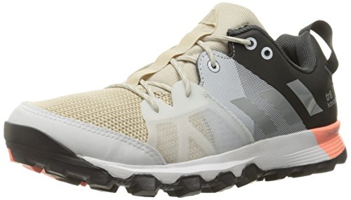 adidas Outdoor Women's Kanadia 8 Trail Running Shoe, Clear Brown/Matte Silver/Sun Glow, 8.5 M US