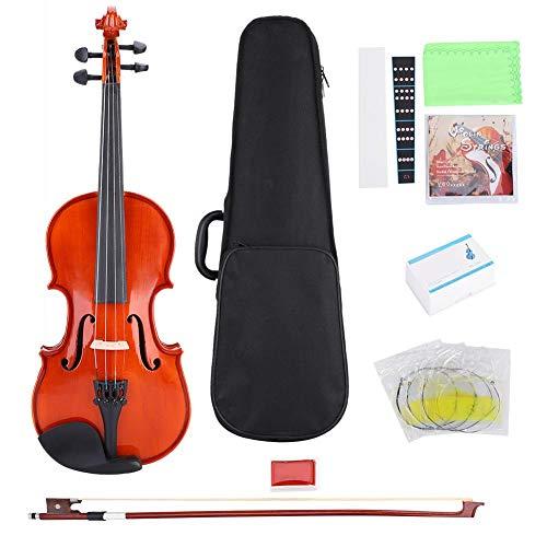 Vbestlife 1/4 de violín, Juego de violín de Arce Rizado en Abeto V-03 con Caja Adhesivo de Cadena de Resina para niños,...
