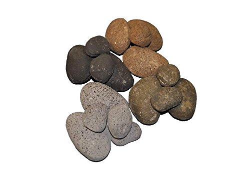 Hearth Products Controls (HPC Ceramic Fiber River Rock (FPR84MC), 1/2 Cubic Foot, -
