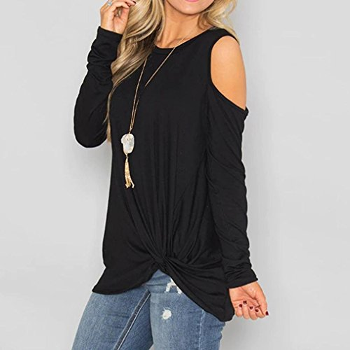 V Courtes Top Col Chemisier Dcontract Noir Manches Femme DAYLIN Solid dqXCx0Tw0