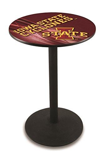 "Holland Bar Stool L214B Iowa State University Licensed Pub Table, 36"" x 42"", Black"
