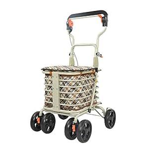 f0e988d7d5ea Amazon.com: Tengxiang Shopping cart Portable Collapsible 4-Wheel ...