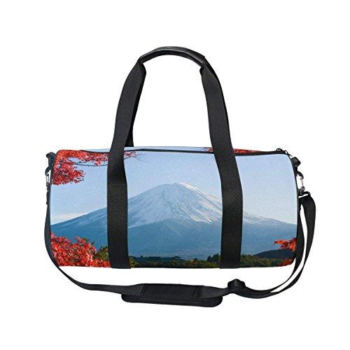 Sports Bag Nature Fuji Mountain Mens Duffle Luggage Travel B