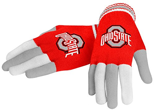 FOCO NCAA Ohio State Buckeyes Team Knit Glove Steam Knit Gloves, One Size, Team Color (Ohio State Knit Hat)