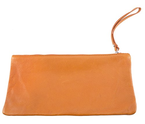 Sunsa Damen Leder Clutch Handtasche