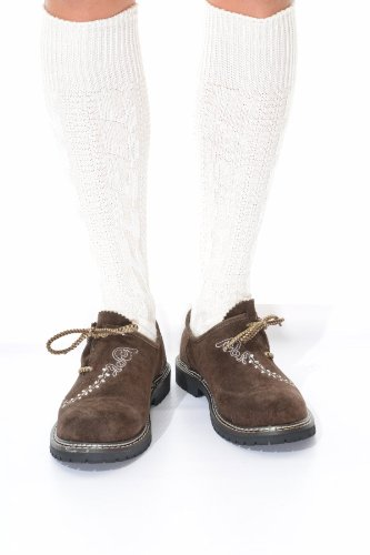 Long German Lederhosen Socks in cream, -