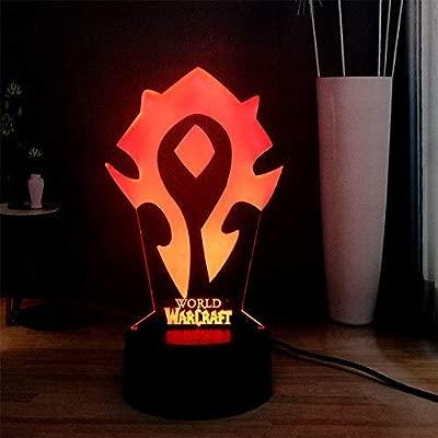 World Of Warcraft 3D Led Lampe Die Allianz Tribal Zeichen Remote Touch Steuerung Nachtlicht Usb Dekorative Tischlampe Freund Geschenk