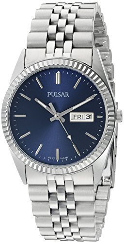 Pulsar Water Resistant Wrist Watch (Pulsar Men's PXF303 Functional Analog Display Japanese Quartz Silver Watch)