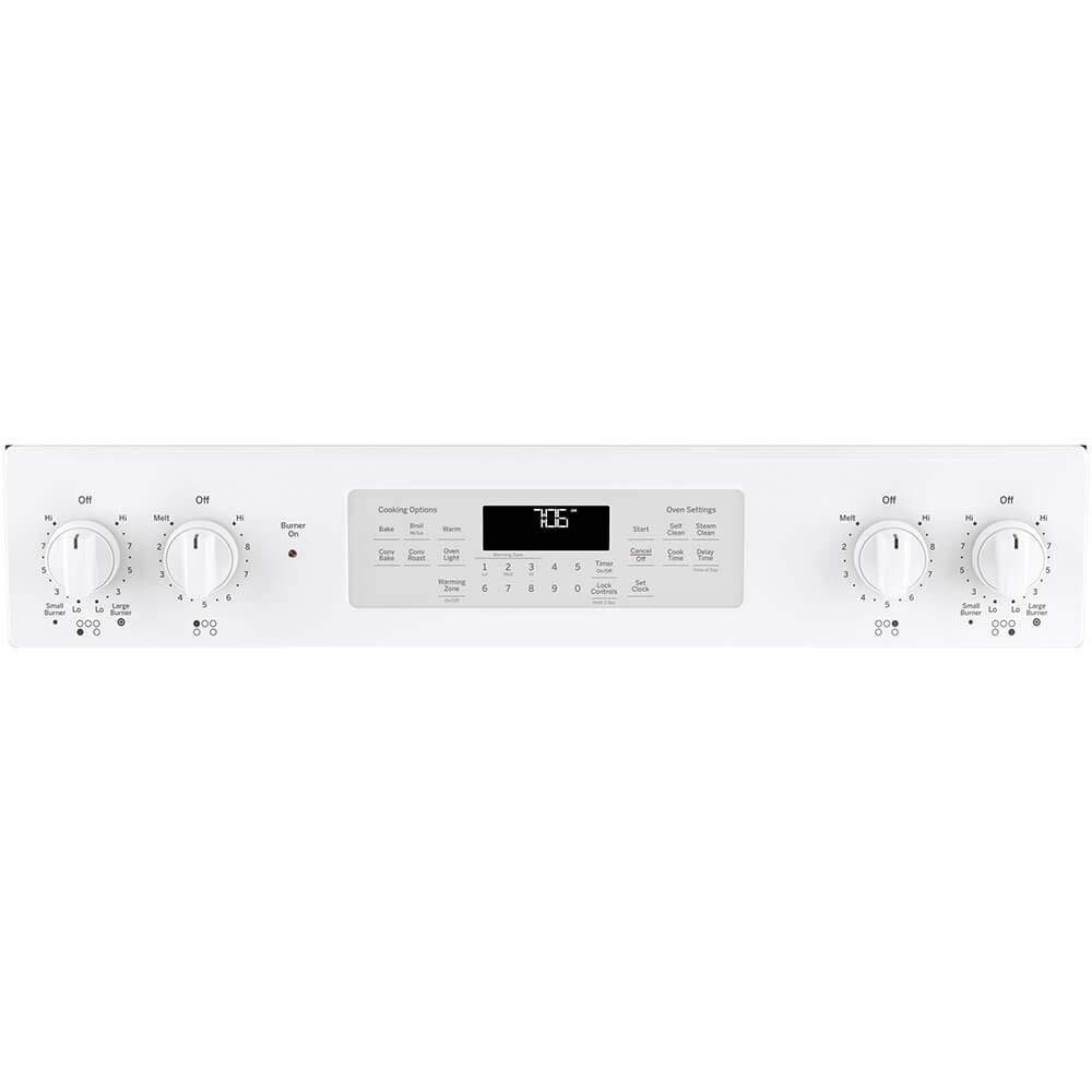 GE JS760DLWW 30 Inch Slide-in Electric Range with Smoothtop Cooktop in White