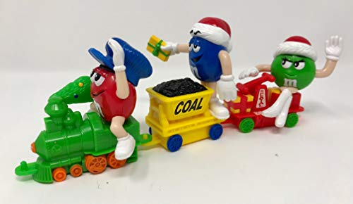 M & M Christmas Train Ornament Vintage Collectible 3 Cars