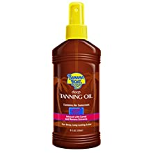 Banana Boat Deep Tanning Oil Spray with Carrot and Banana Extracts - 8 Ounce (Pack of 3)