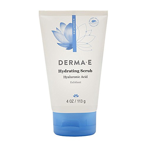 DERMA E Hydrating Scrub with Hyaluronic Acid, 4 oz (Derma E Hyaluronic Acid Night Cream Reviews)