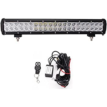 41CcWfP2OpL._SL500_AC_SS350_ amazon com nilight light bar 2pcs 20 inch 126w led lights spot  at nearapp.co