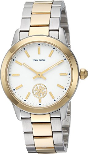 Tory Burch Women's The Collins Watch, Gold/Silver/Ivory, One Size (Tory Gold Burch Watch)