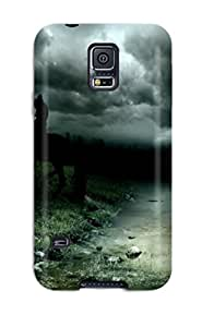 1621862K31737694 Tough Galaxy Case Cover/ Case For Galaxy S5(enigmatic Rider In The Night)
