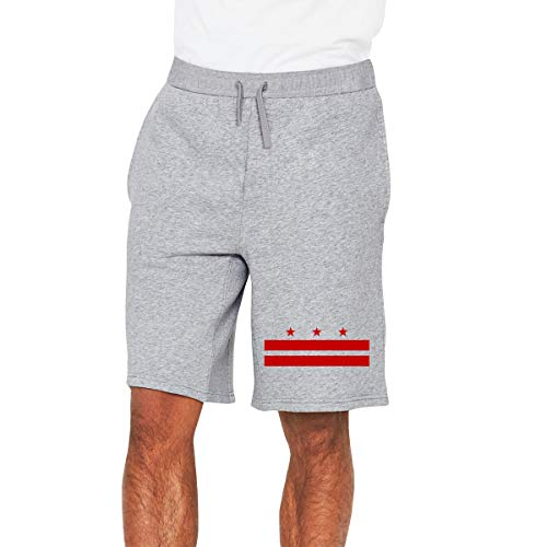 (Washington DC District Flag Mens Joggers Shorts Athletic Sports Workout Shorts Sports Shorts Gray)