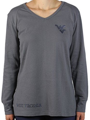 - Nitro USA NCAA West Virginia Mountaineers Fashion Thermal Tunic T-Shirt, 2X, Grey
