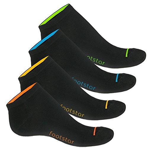 8 Paar Herren Sneaker Neon Glow-43-46