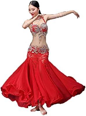 C&X Disfraz De Danza del Vientre Adulto Femenino Falda Larga Traje ...