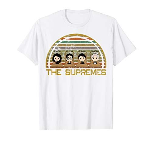 (THE SUPREMES Supreme Court Justices RBG Cute Vintage T-Shirt)