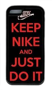Keep Nike and Just Do It DIY Rubber Black iphone 5C Case Perfect By customizationhere WANGJING JINDA