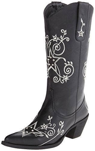 Roper Women's Stars and Stones Western Boot,Black,7.5 M US (Roper Stars)