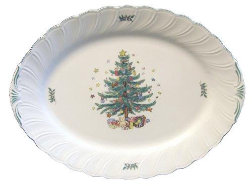 Nikko Happy Holidays Turkey Oval Platter, 20-Inch