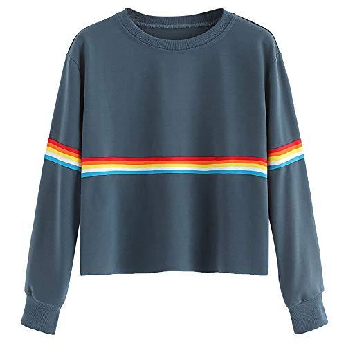 Frauen Sommer lose beiläufige Baumwolllange Hülsen Hemd Oberseiten Bluse Mode
