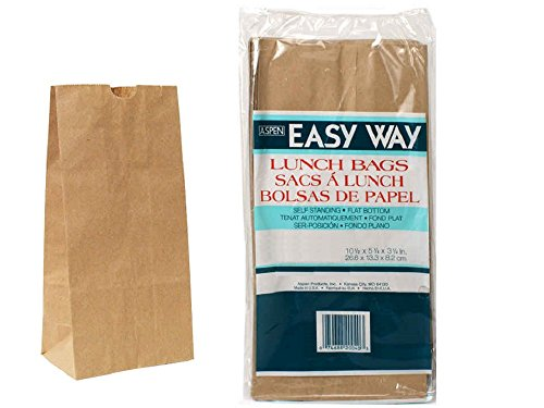 Brown Striped Paper Bags - 4