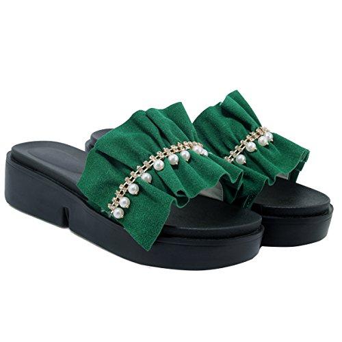 Plateforme Plateforme JYshoes Vert JYshoes Femme Femme Vert JYshoes Plateforme w6qa1xqgP