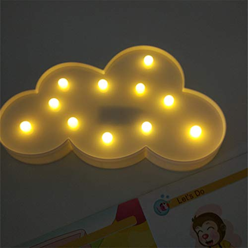 BGFHDSD 3D LED Night Light Table Lamp Cloud Christmas Tree Cartoon LED Children Night Atmoshpere Light Blue by BGFHDSD