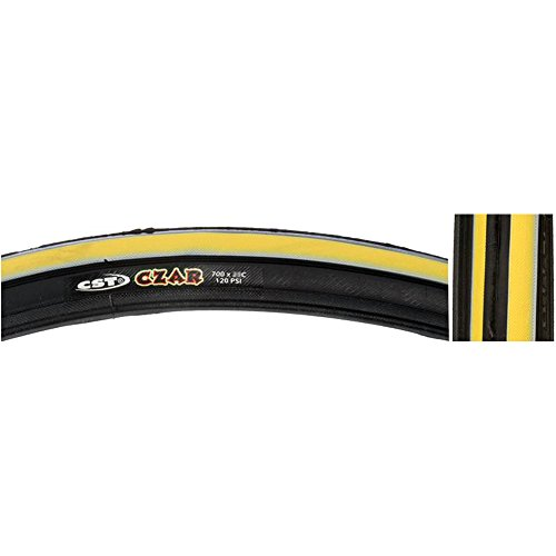 CST Czar Comp Road Tire, Yellow/Black, 700cm x (Comp Road Tire)