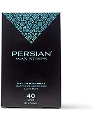 Persian legs & Body Wax Strips (40 strips), Pack Of 2