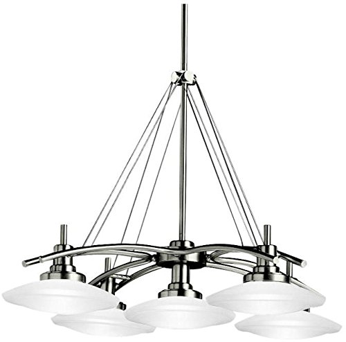 Kichler 2055NI Structures Chandelier 5-Light Halogen, Brushed Nickel