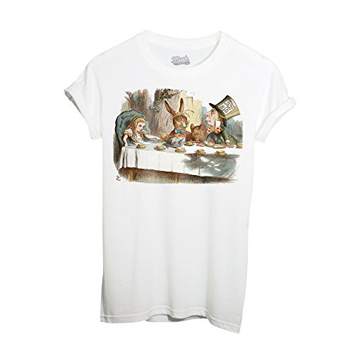 T-Shirt ALICE NEL PAESE DELLE MERAVIGLIE TEA PARTY - FILM by iMage Dress Your Style