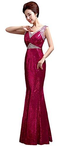 Rosy Drasawee Kleid Red Orange Damen Cocktail wqIq64