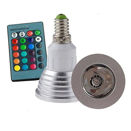 Zehui E27 Standard Screw Base Remote Control for Home Decoration Bar Party Various Colors Changing Dimmable RGB LED Light Bulb 3W