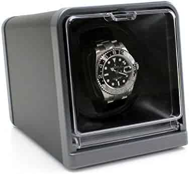 [On Sale] Versa Solo Single Watch Winder for Automatic Watches :: with Japanese Mabuchi Motor :: Multiple Turns Per Day + 3 Direction Settings :: Comes with Power Adapter + Instruction Manual, Black