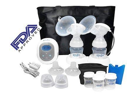 Megna Double Electric Breast Pump: Portable Dual Digital Br