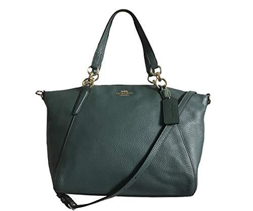 - Coach Pebble Leather small Kelsey Satchel Crossbody Handbag (Turquoise)