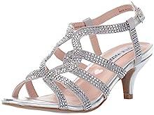 Steve Madden Girls' JAMOUR Heeled Sandal, Silver, 2 M US Little Kid